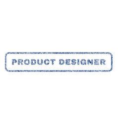 product designer textile stamp vector image