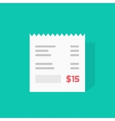 Receipt icon invoice flat vector image