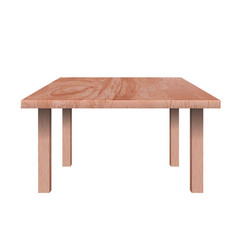 rectangular shaped table vector image