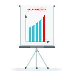 sales growth concept vector image