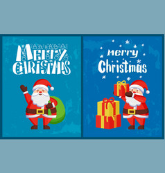 santa claus winter holidays adventures vector image