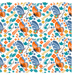 Seamless pattern with animal butterfly vector