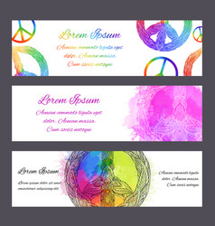 Set of gift certificates banners and voucher vector