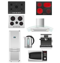 Set of kitchen appliances 02 vector