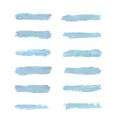set of water color brushes vector image