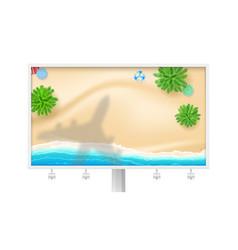 shadow plane under tropical beach billboard vector image