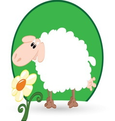 sheep resize vector image