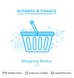 shopping basket symbol on white vector image