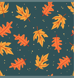Simple flat leaves seamless pattern vector