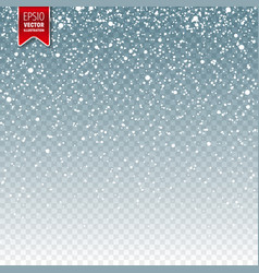 Snow with snowflakes winter blue background vector