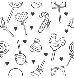Stock of various candy doodle style vector
