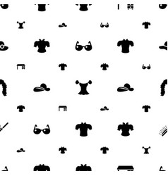 Stylish icons pattern seamless white background vector