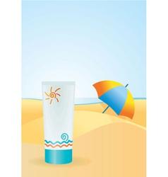 sun cream vector image