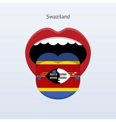 Swaziland language abstract human tongue vector
