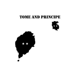 Symbol of isle of tome and principe and map vector