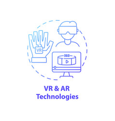 Vr and ar technologies concept icon vector