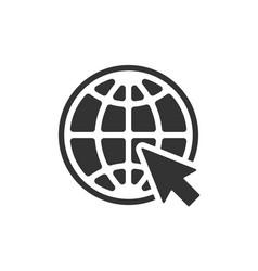 web symbol vector image