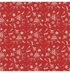 Wrapping paper seamless background for holiday vector image