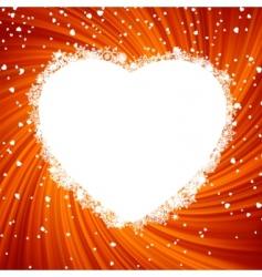 fire heart frame vector image