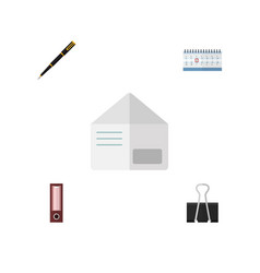 flat icon tool set of letter date block paper vector image