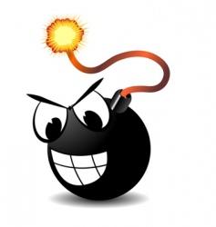 mad bomb vector image