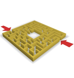 maze vector image vector image