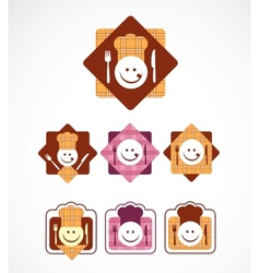 menu icons vector image vector image