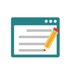 seo copywriting flat icon vector image vector image