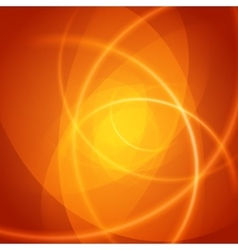 Smooth light orange waves lines abstract vector image