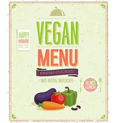 Vegetaruan vector image vector image
