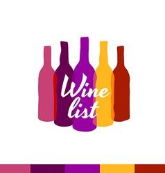 Wine list logo template Menu title decoration vector image vector image