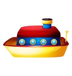 A toy ship vector image