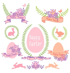 Happy Easter design set vector image vector image