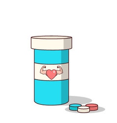 Isolated cartoon viagra drugs for making love stro vector