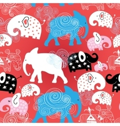 pattern of elephants in the clouds vector image vector image