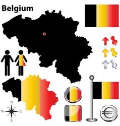 Belgium map small vector image vector image