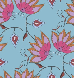 Bright summer hand drawn seamless pattern vector