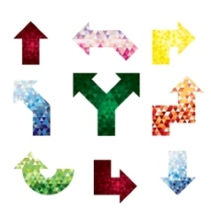 colored arrows from triangles vector image
