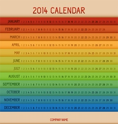 Full color 2014 calendar vector image