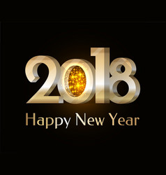 happy new year 2018 sparkling vector image