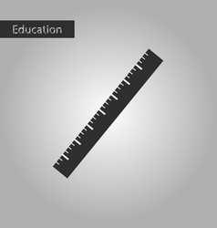 ruler black and white style icon vector image