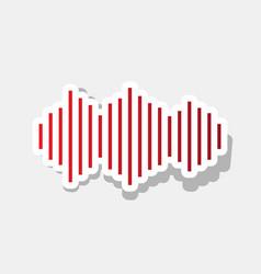 sound waves icon new year reddish icon vector image vector image