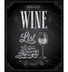 wine chalk vector image vector image