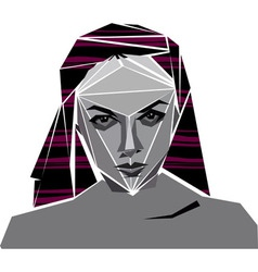 angular girl vector image vector image