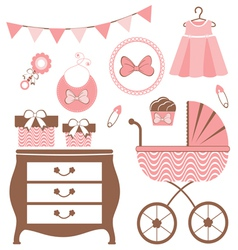 Baby girl is coming vector image vector image