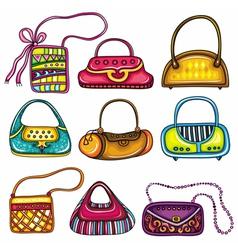 handbag purses vector image vector image
