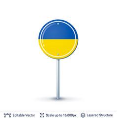 ukraine flag isolated on white vector image vector image