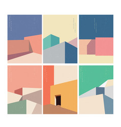 Abstract architecture background with geometric vector