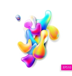Abstract bright colorful plasma drops shapes vector