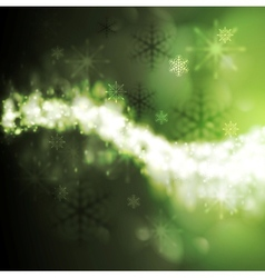 Abstract green iridescent Xmas background vector